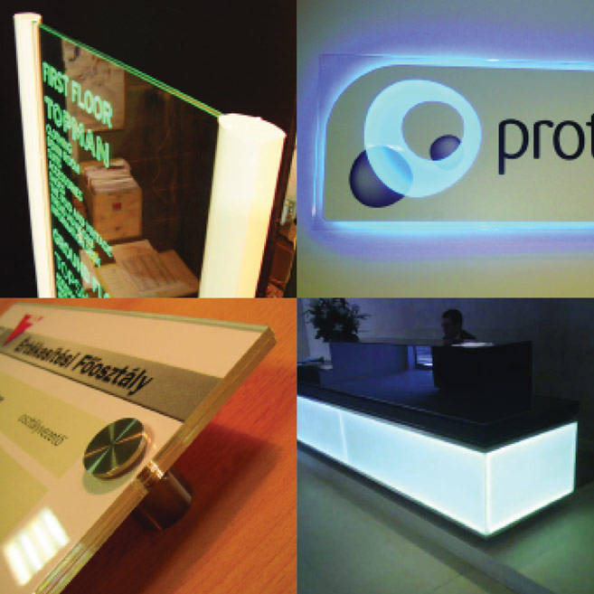 Rood Signs Acrylic Engraved Panel LED Edge Lighting Signage In Aberdeen