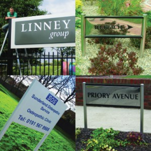 Rood Signs Fabricated Post Signage in Aberdeen