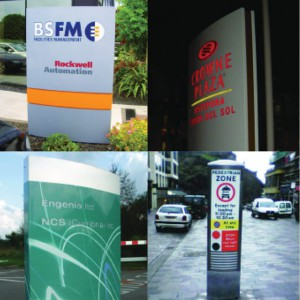 Rood Signs Fabricated Totems Monolith Signage in Aberdeen